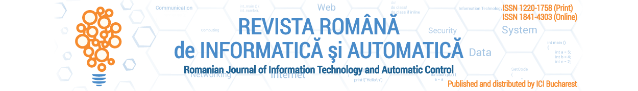 Romanian Journal of Information Technology and Automatic Control